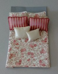 Double Bed Comforter Set, Pink Floral
