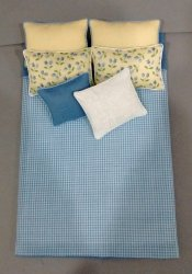 Double Bed Comforter Set, Yellow & Blue