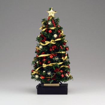 Lighted Red/Gold Bow Christmas Tree - Lighted Red/Gold Bow Christmas Tree [DHS49144] - $124.99 : Miniature