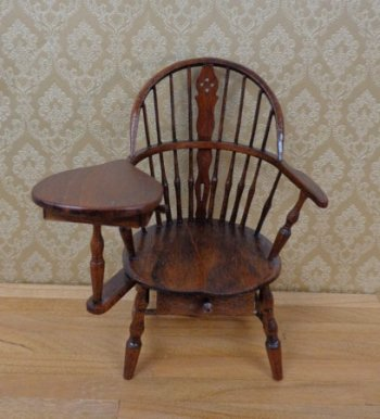 Wheelback Windsor Writing Chair Walnut Md2961 149 99