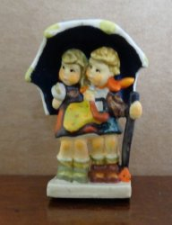 "First Edition Hummel ""Stormy Weather"" Miniature Figurine"