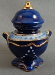 Blue Luster Urn with Lid