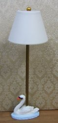 Swan Floor Lamp, Handpainted