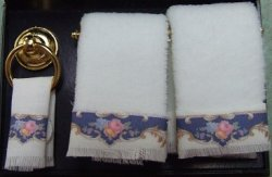Blue Royal Towel Set w/ Rack