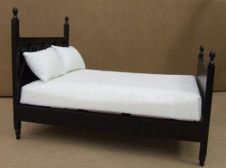 Ashley Double Bed, Ebony