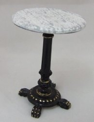 Bistro Table, Black & Gold