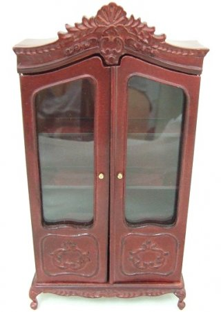 French Provincial China Cabinet/Armoire, Mahogany