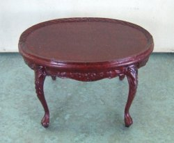 Oval Coffee Table, Mahogany