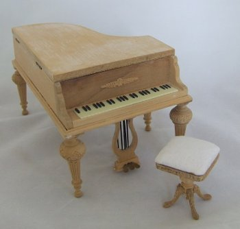 Empire Grand Piano & Stool, Unfinished