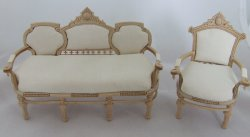 Edwardian Princess Sofa & Chair, Unfinished