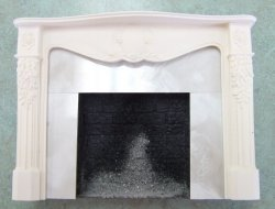 Louie XVI Mantle, Primed, White Marble
