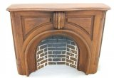 Victorian Style Fireplace w/ Hearth & Embers, Walnut