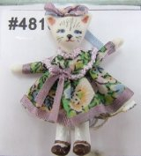 Kitty Cat Doll, Floral Dress