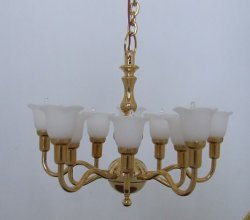 10 Arm Upright Tulip Chandelier