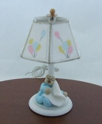 Nursery Lamp w/ Sleeping Bear