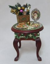 Queen Anne Side Table, Filled for Christmas
