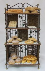 Vineyard Bakers Rack Filled w/ Breads