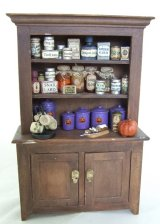Brown Halloween Hutch, Filled