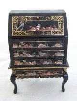 Black Oriental Drop Leaf Desk
