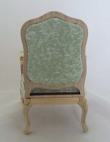 Upholstered Chair, Green, Unfinished