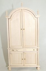 Armoire with Shelves, Unfinished
