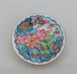 Porcelain Plate, Handpained Tobacco Leaf
