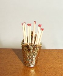 Fireplace Matches & Holder