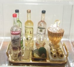 Bar Set on Gold Tray