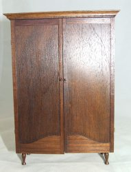 Armoire, Walnut, Signed
