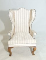 Wing Chair, Silk Fabric