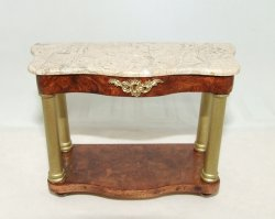 Console Table, Tan Marble