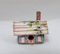Rectangle Birdhouse, Handpainted