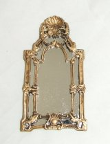 Mirror, Rectangle, Shell/Cutwork, Gold