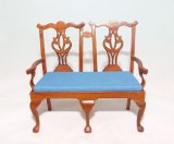 Chippendale Double Chair Settee, 1760