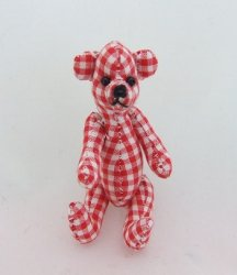 Red Gingham Bear, Jointed