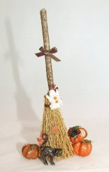 Decorated Broom, Halloween