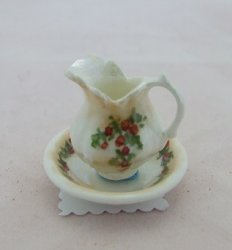 Porcelain Pitcher & Bowl, Lusterware