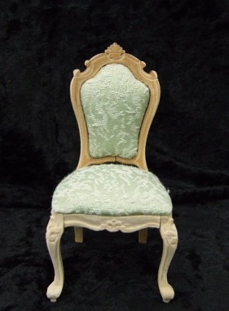 Carved Queen Anne Side Chair, Unfinished