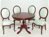 Ms. Lydia Dining Set, Mahogany
