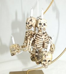 3 Arm Skeleton Chandelier