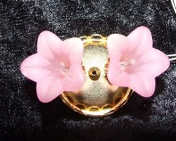 2 Light Ceiling Light, Pink Floral Shade