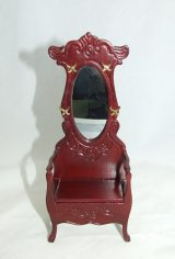 Hall Tree w/ Mirror, Mahogany