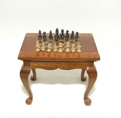 Chess Table w/ Chess Pieces