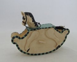 Rocking Horse, Hanpainted/Carved