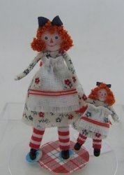 Raggedy Anne Baby Doll w/ Friend