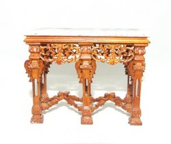 Carved Console w/ Marble Top, NWN