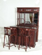New Castle Bar Set, 4pcs, Mahogany