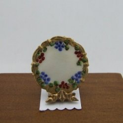 Porcelain Plate w/ Stand, Handpainted