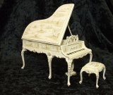 Grand Piano & Stool, Handpainted
