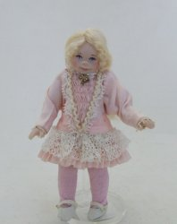 Little Girl, Silk Pink w/ Cream Lace
